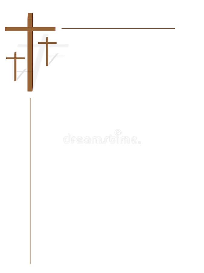 blanc des croix trois illustration libre de droits