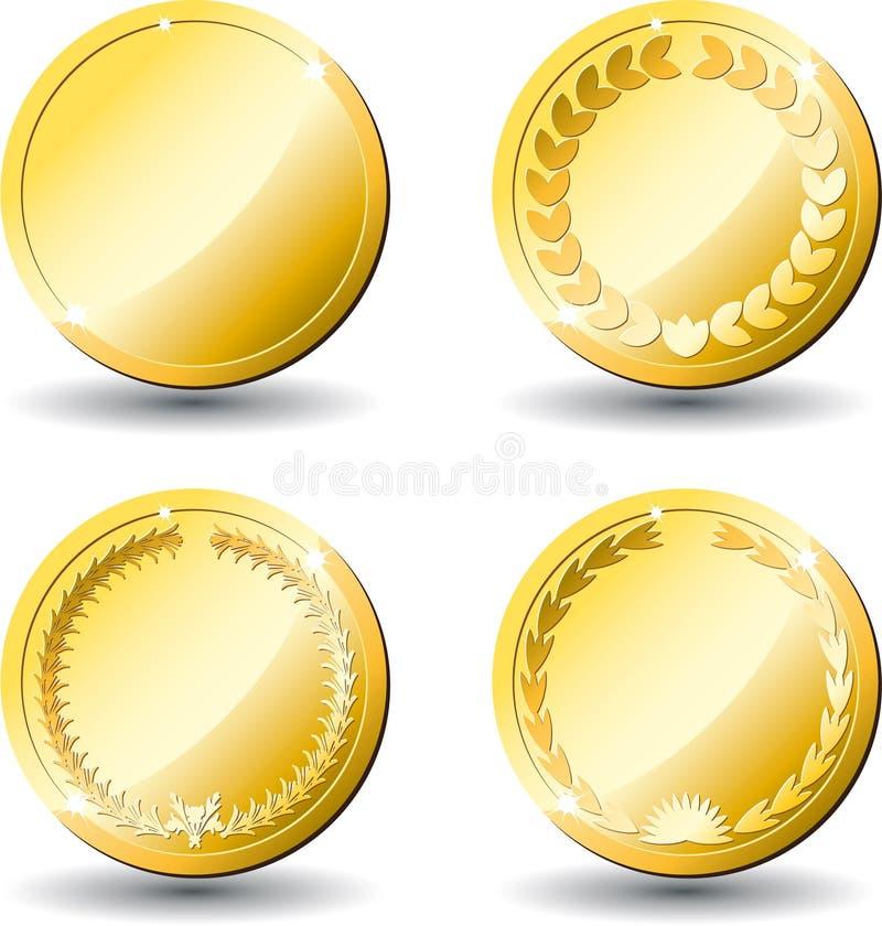 Blanc do ouro das medalhas ilustração royalty free