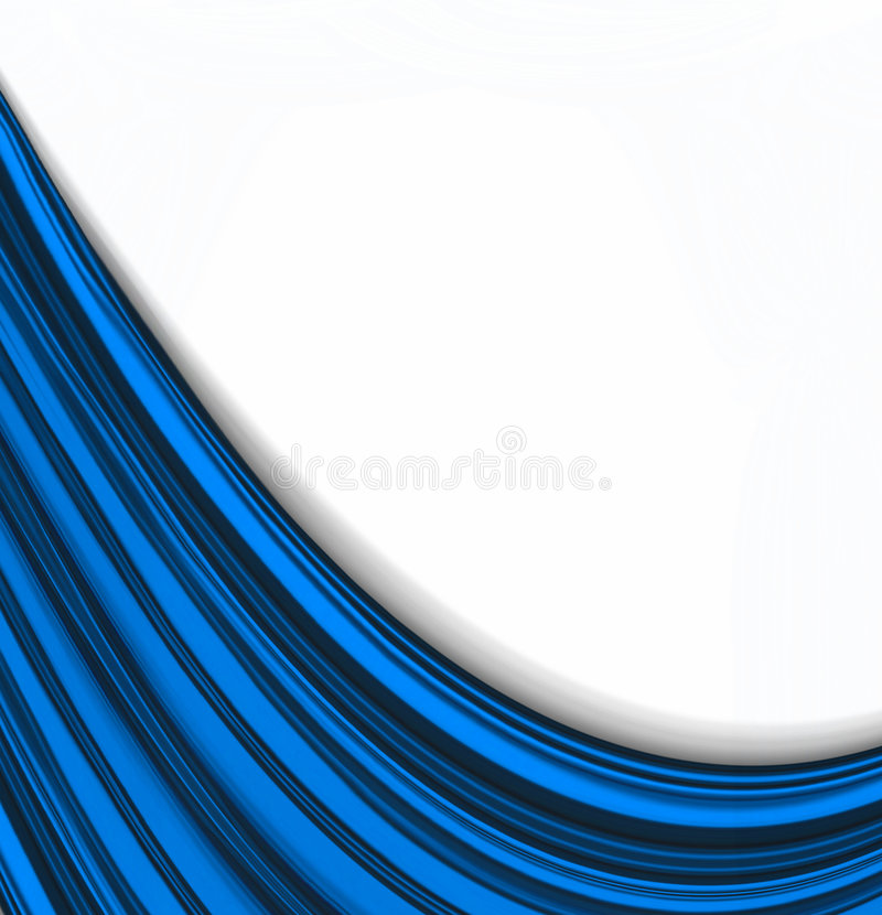 Blanc doux sur les ondes bleues illustration libre de droits