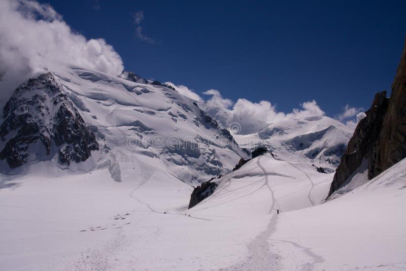 blanc du mont tacul arkivfoton