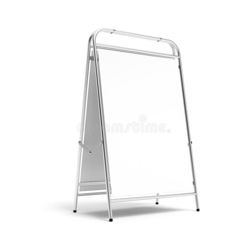 Blanc en métal annonçant le stand. illustration de vecteur