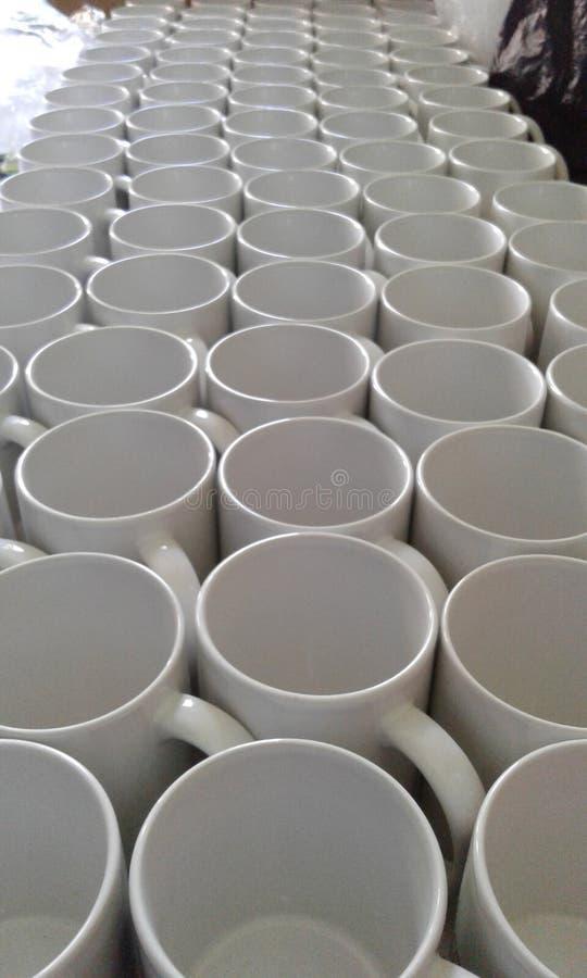 Blanc en verre de tasse photo stock