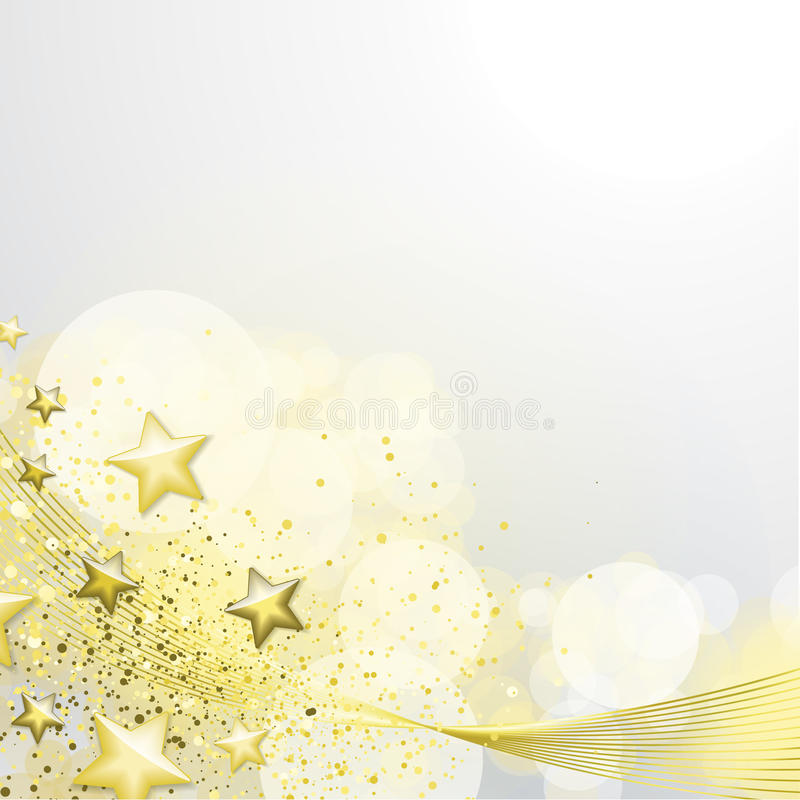 Blanc et fond d'or illustration stock