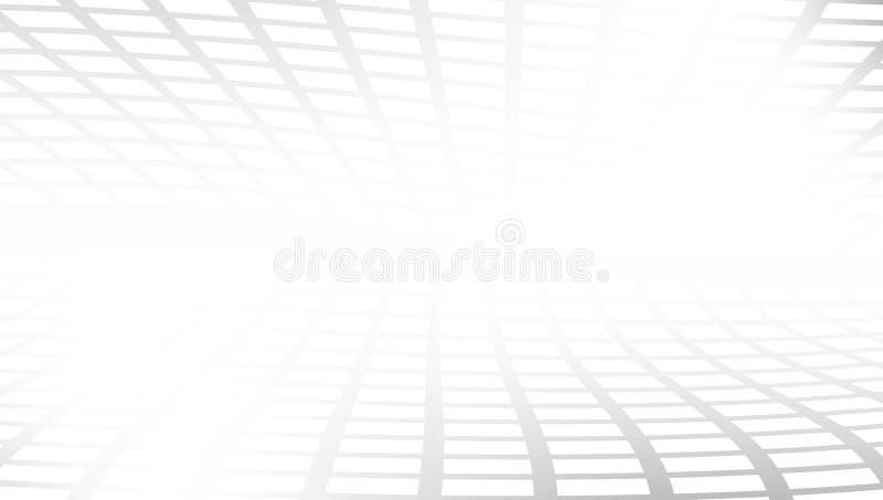 Blanc et Gray Abstract Perspective Background illustration libre de droits
