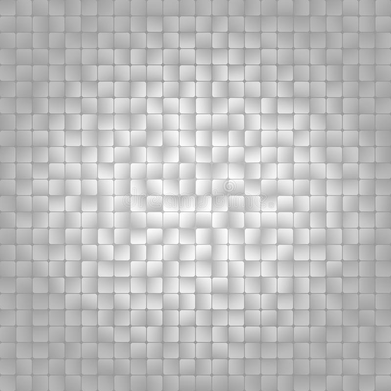 Blanc et mosaïque carrée grise Fond de mosaïque de vintage Conception carrée abstraite Illustration de vecteur illustration libre de droits