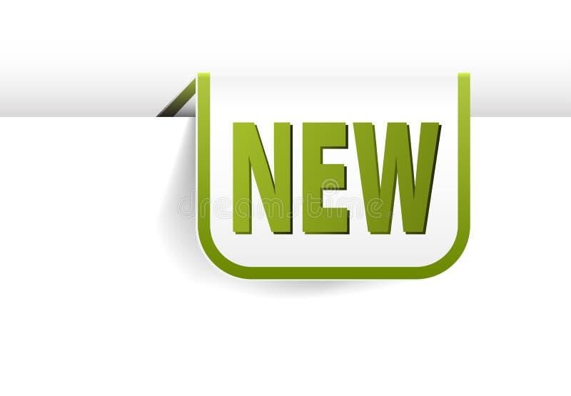 Blanc et signet de rectangle arrondi par vert illustration stock