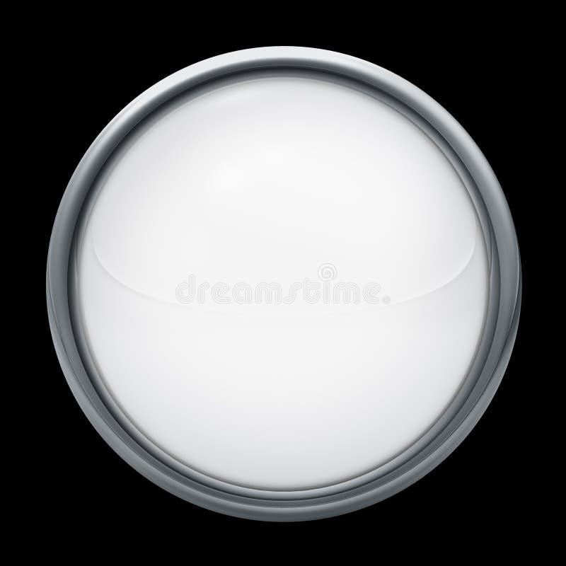 blanc gris de bouton illustration libre de droits