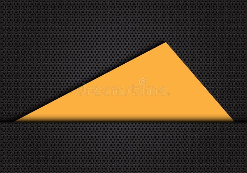Blanc jaune abstrait de triangle sur le vecteur futuriste moderne de fond de cercle de conception grise de maille illustration stock