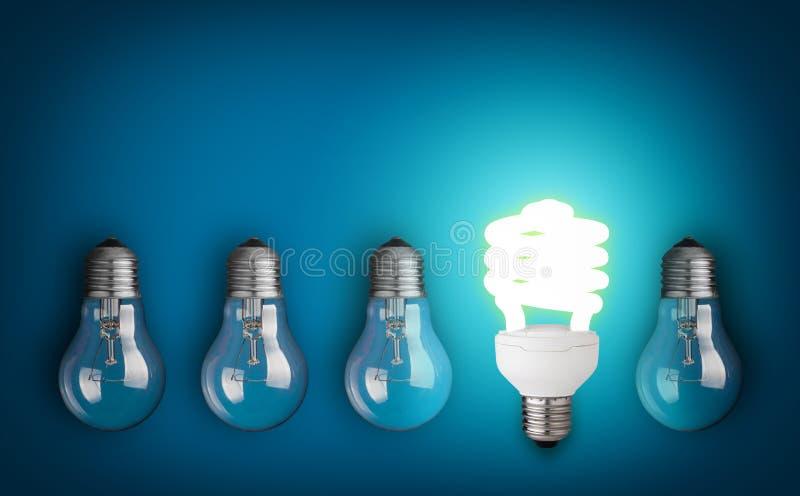 blanc léger d'isolement par ampoules photos libres de droits