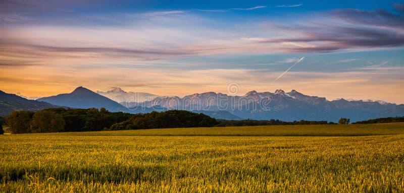 blanc mont wschód słońca fotografia stock