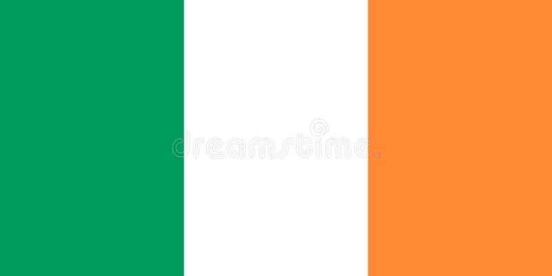 blanc national de l'Irlande d'illustration d'indicateur de fond Illustration de vecteur dublin illustration stock