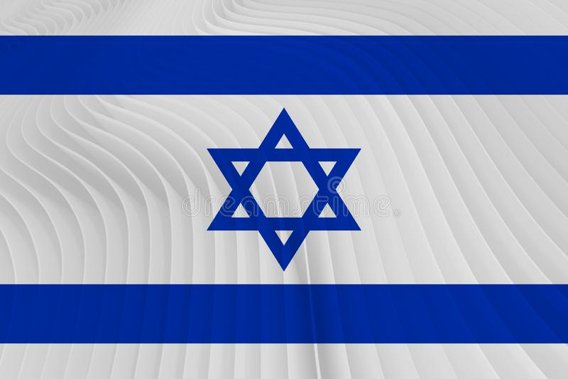 blanc national de l'Israël d'illustration d'indicateur de fond illustration stock