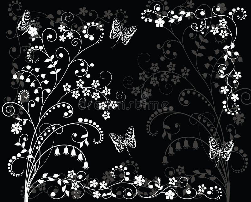blanc noir de fond illustration de vecteur