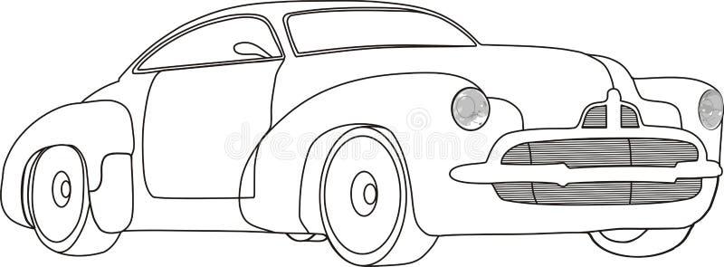 blanc noir de véhicule illustration stock