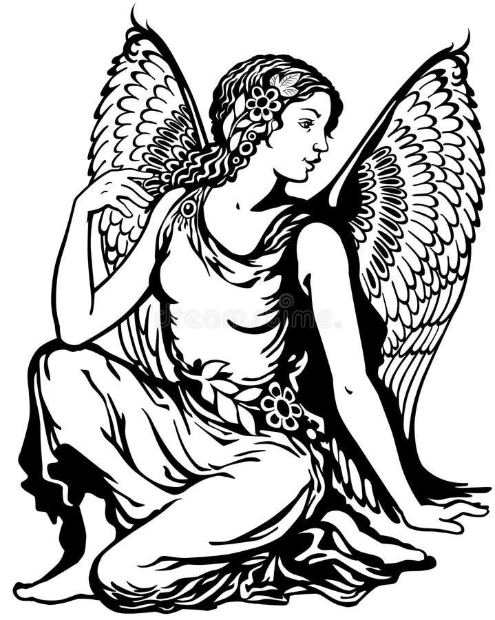 Blanc noir de Vierge illustration libre de droits