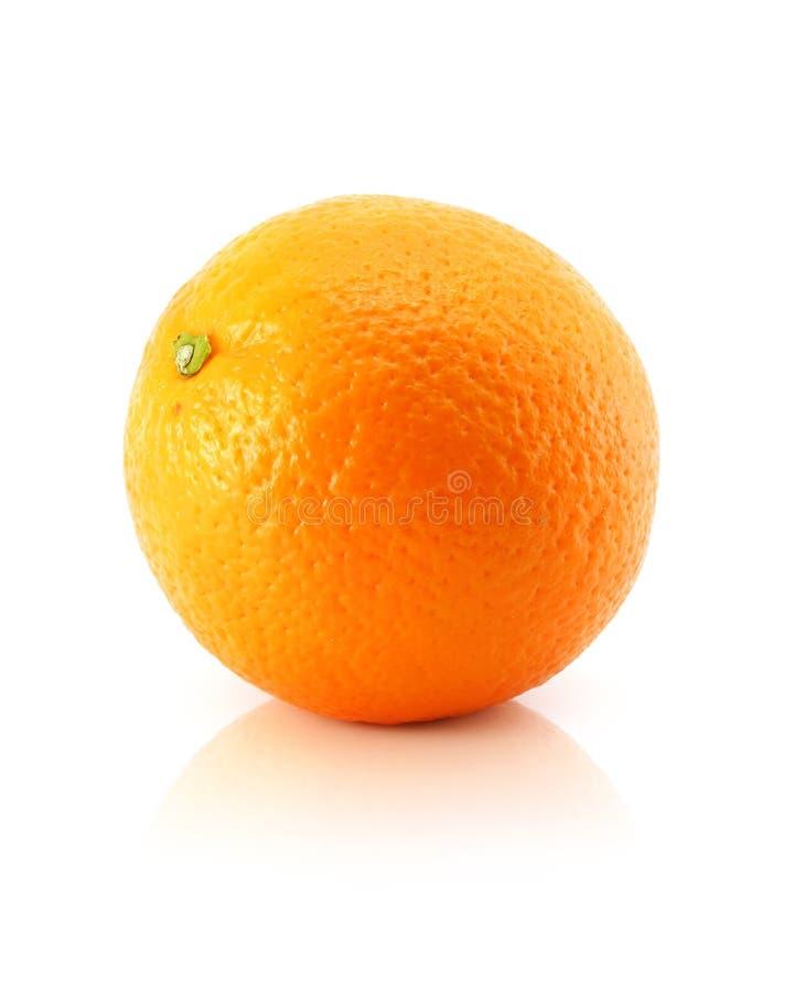 blanc orange d'isolement d'agrumes image stock