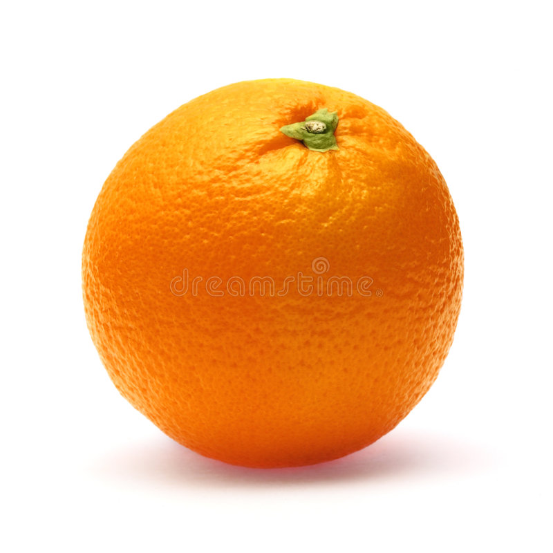 blanc orange d'isolement par fond photo stock