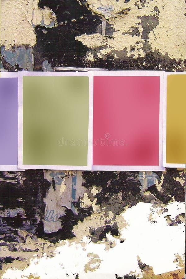 Blanc Plakate grunge Wand vektor abbildung