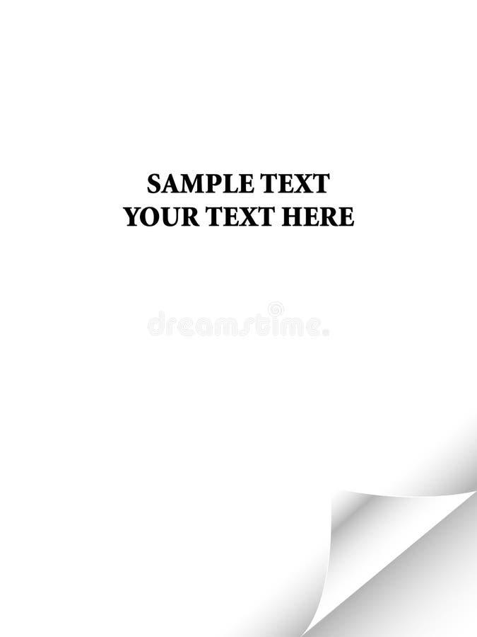 blanc réaliste de papier de page d'enroulement illustration de vecteur