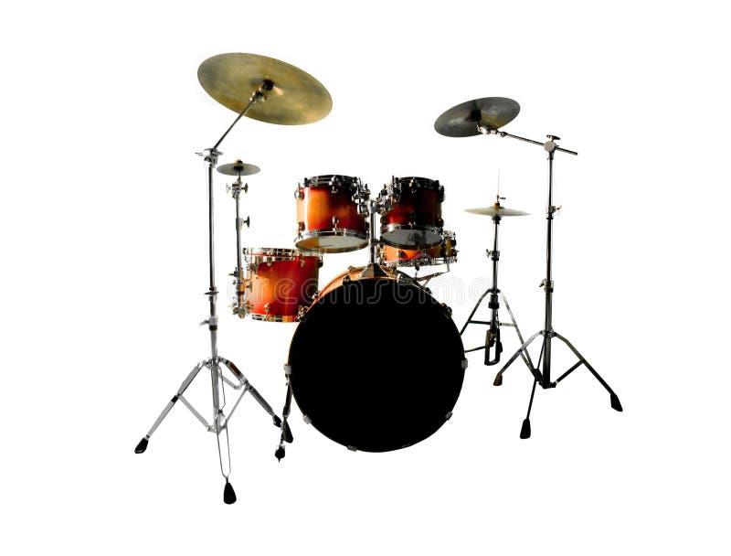 blanc réglé de tambour photographie stock libre de droits