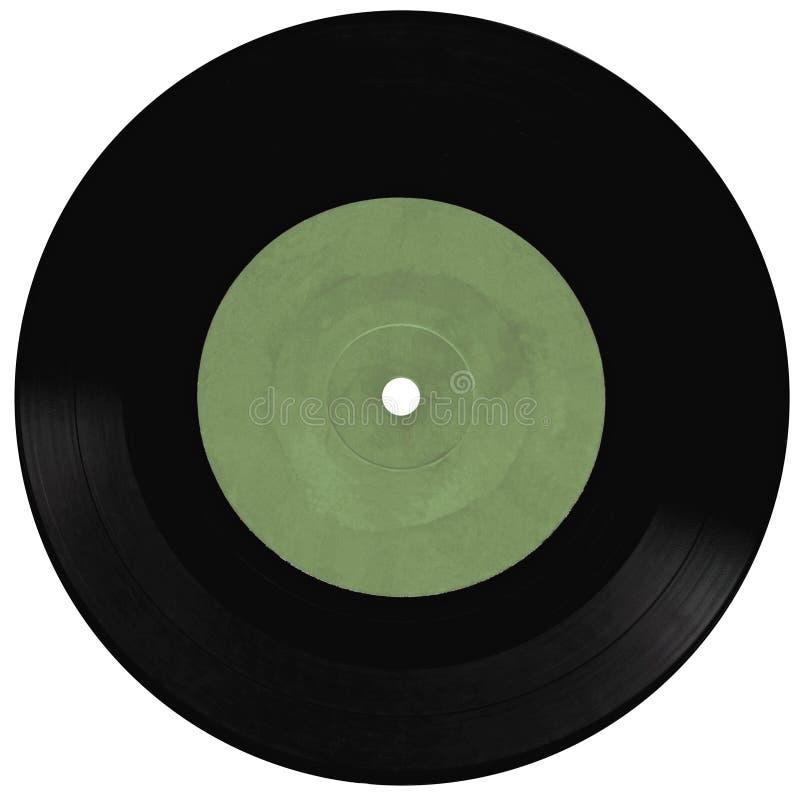 blanc record d'isolement de vinyle de cru photo libre de droits