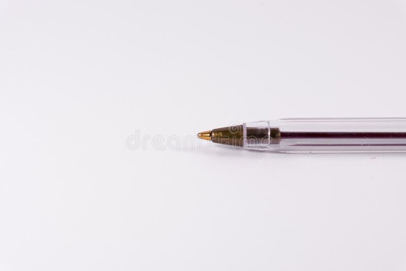 Blanc rouge Backgroun de fourniture de bureau d'espace libre de Pen Tip Cap Tube Plastic photographie stock libre de droits