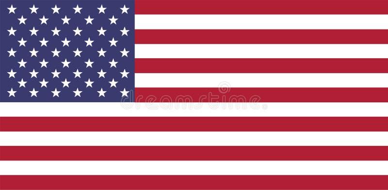 blanc rouge bleu de drapeau national de tradional des Etats-Unis illustration libre de droits
