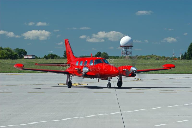 blanc rouge de l'avion 3d photo stock
