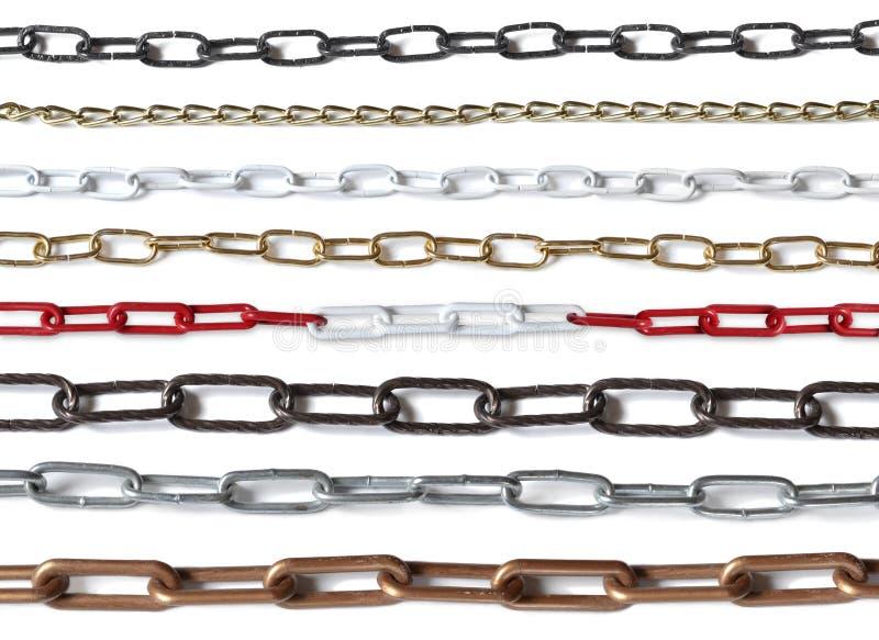 Blanc rouge de palais noir argenté de fer d'or de chaîne de chaînes image libre de droits