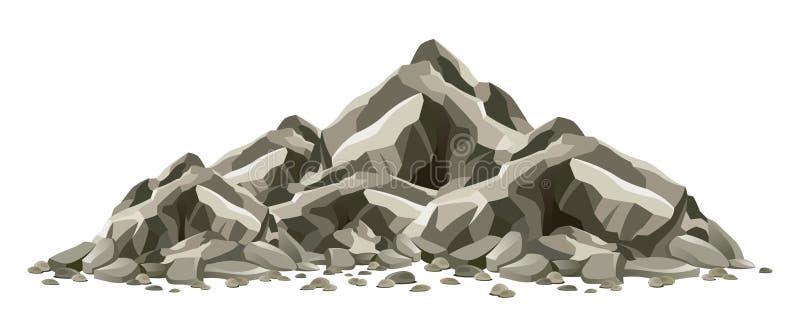 blanc rouge de roche de formations illustration de vecteur