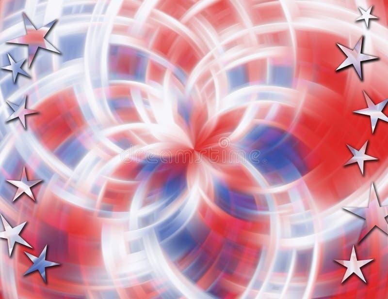 blanc rouge de tache floue bleue illustration de vecteur