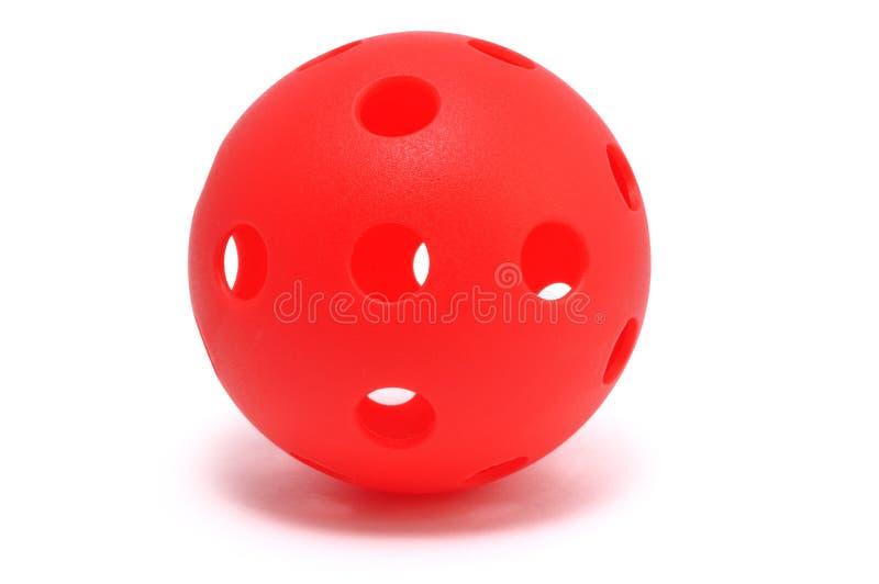 blanc rouge de whiffle d'isolement par bille images stock