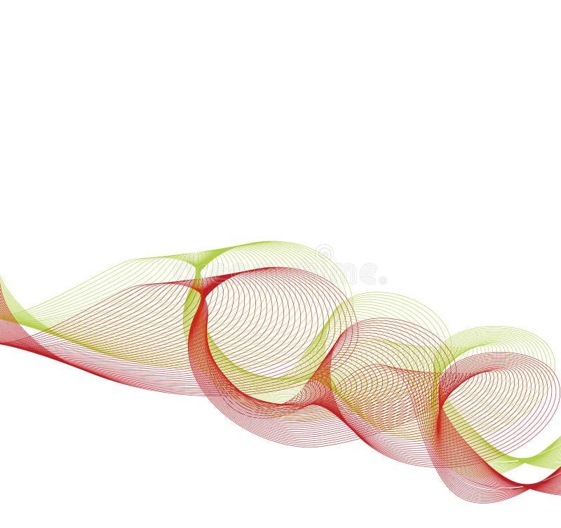 Blanc rouge vert abstrait de torsion illustration stock