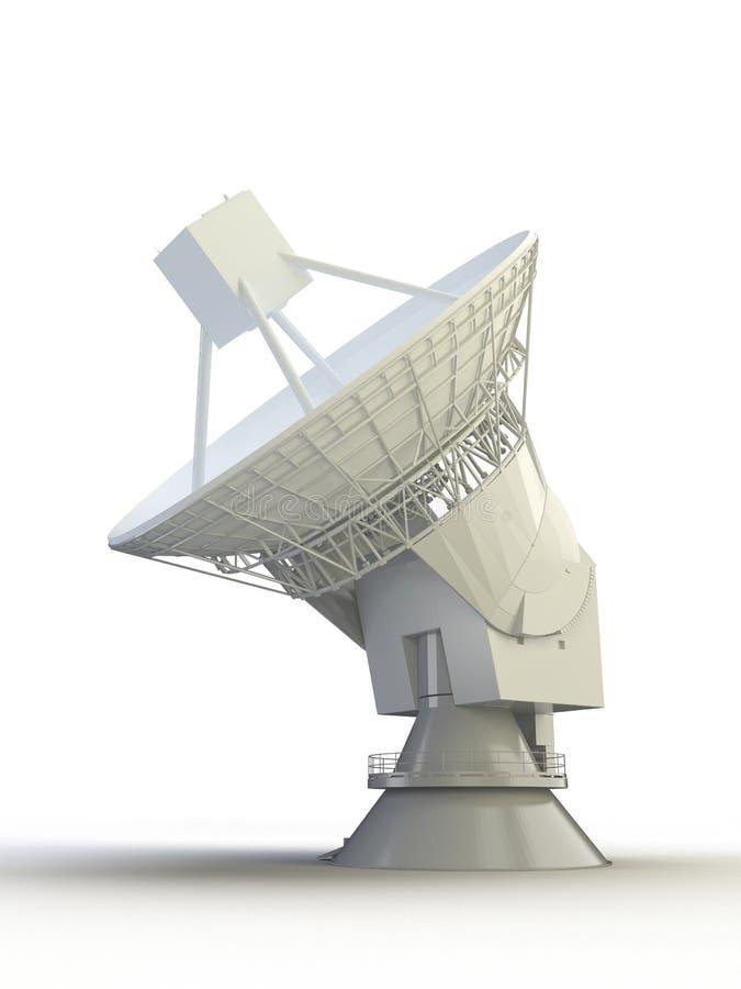 blanc satellite de l'antena 3d illustration de vecteur