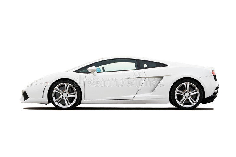 blanc supercar image stock