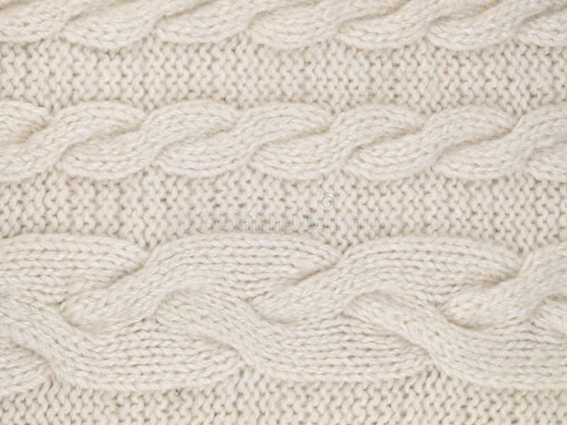Blanc tricoté photos libres de droits