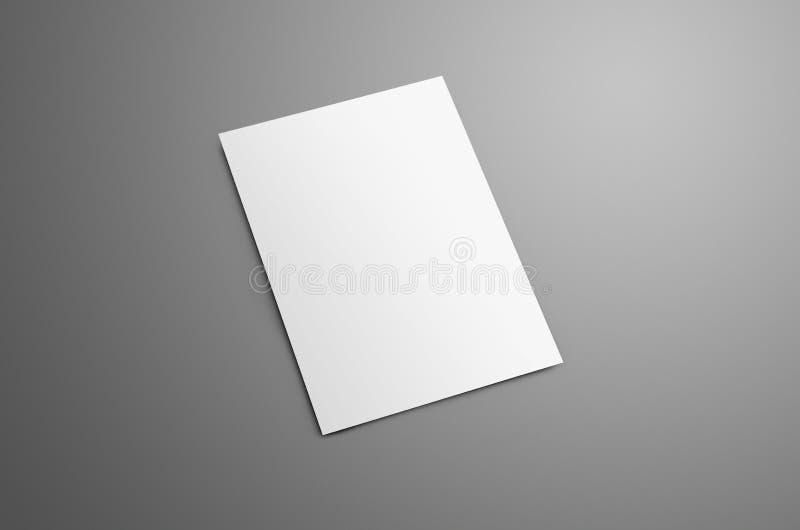 Blanc universel A4, brochure du Bi-pli A5 avec SH réaliste doux image libre de droits