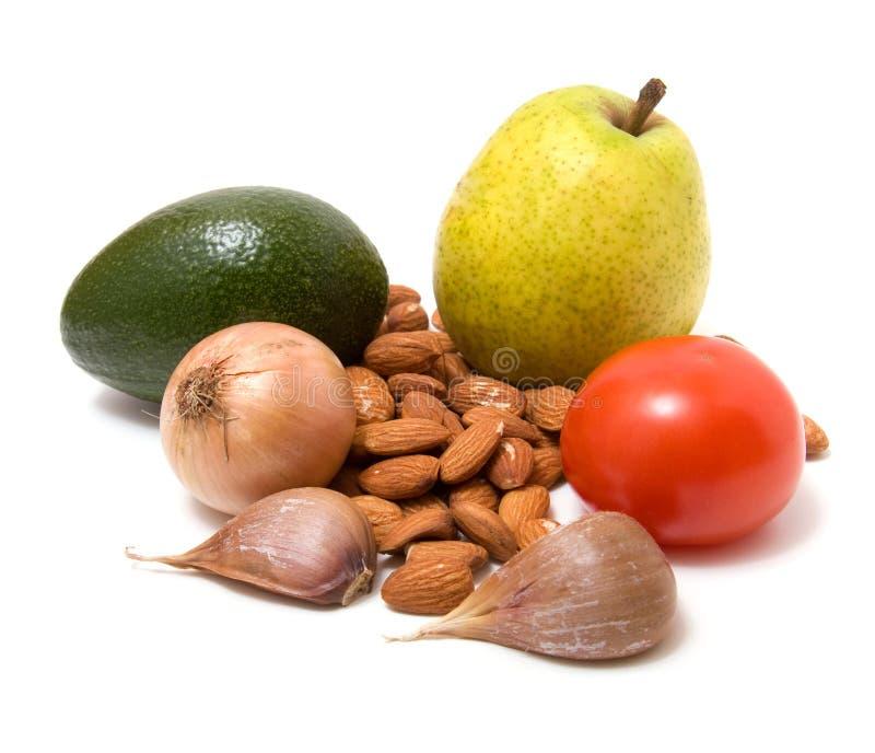 blanc végétal nuts d'isolement par fruit photos stock