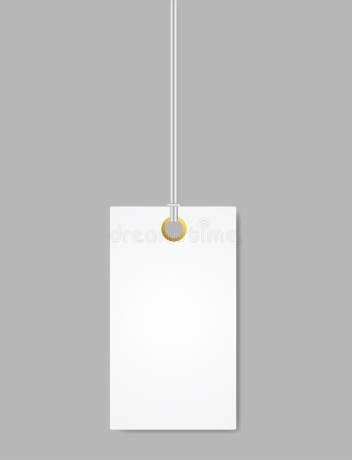 Blanc vide d'étiquette de label Vecteur d'isolement illustration de vecteur