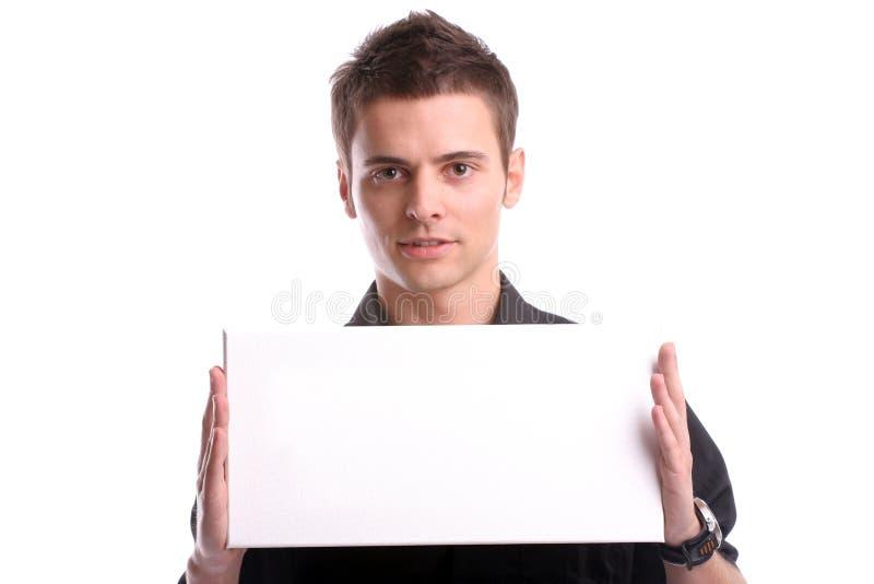 blanc vide d'homme de carte de visite professionnelle de visite photographie stock libre de droits