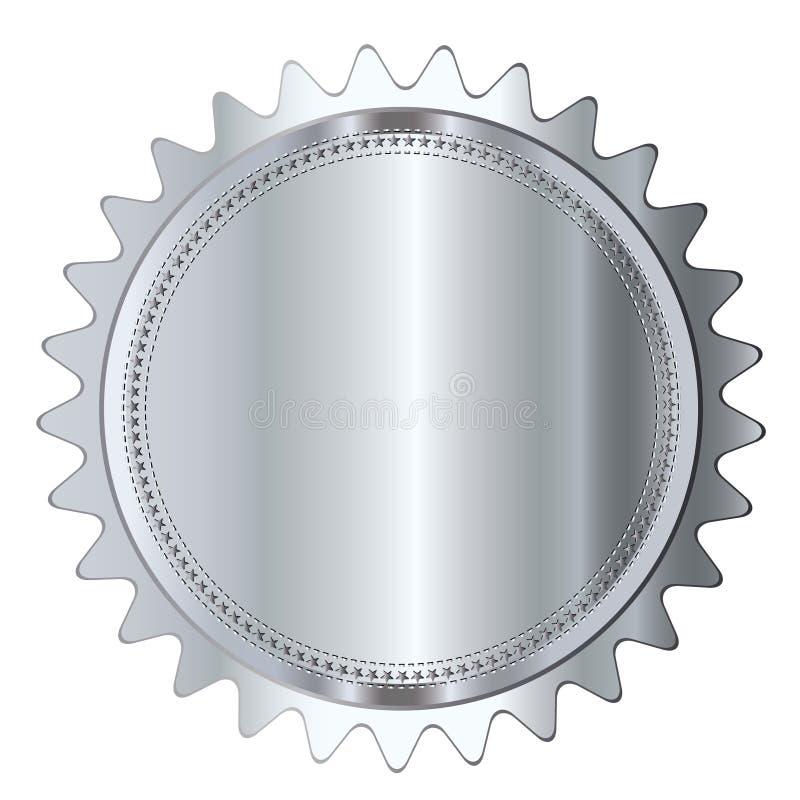 Blanc vide de joint de label argenté d'insigne illustration de vecteur