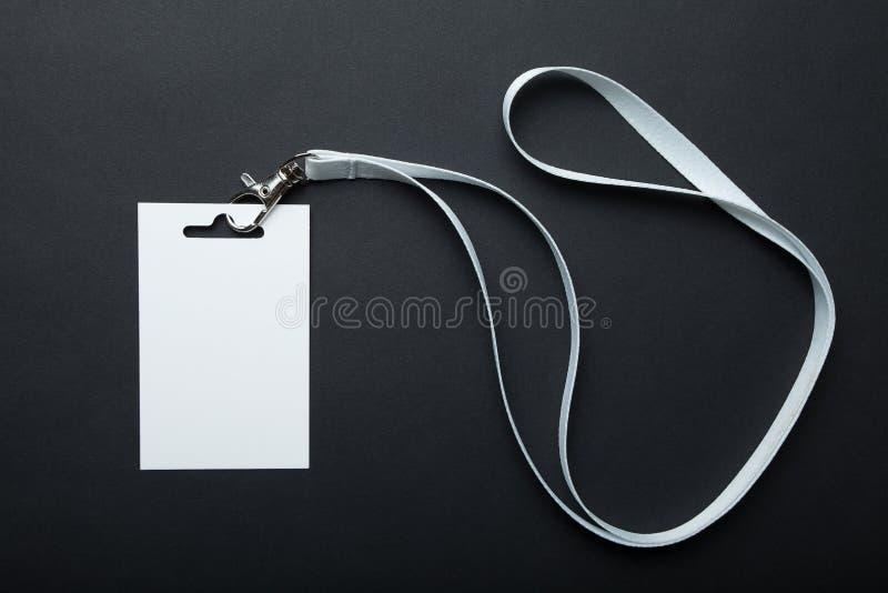 Blanc vide de maquette de lanière et d'insigne, l'espace pour le texte image stock