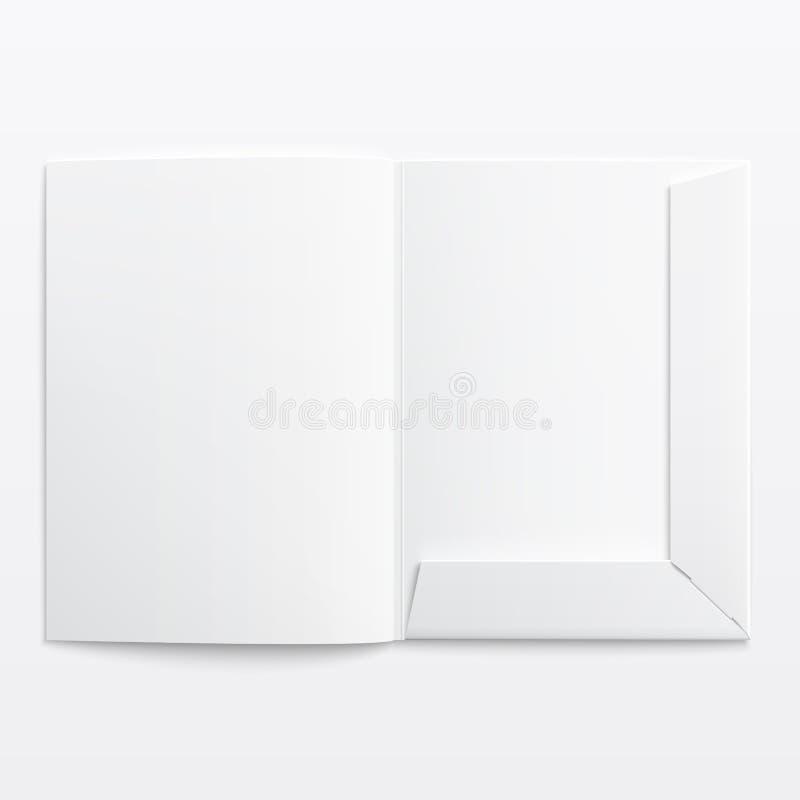 Blanc videz le dossier ouvert. illustration libre de droits