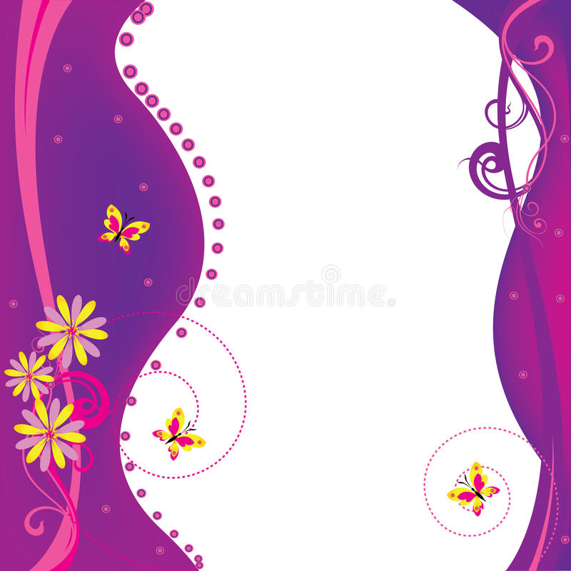 Blanc violet illustration stock