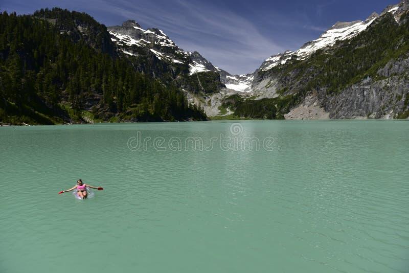 Blanca湖,华盛顿,美国 免版税图库摄影
