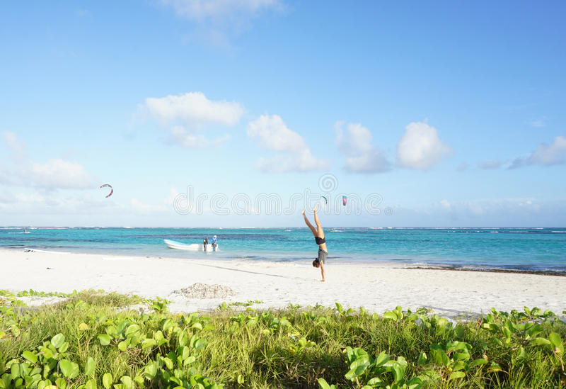 Blanca beach,Dominican Republic stock photo