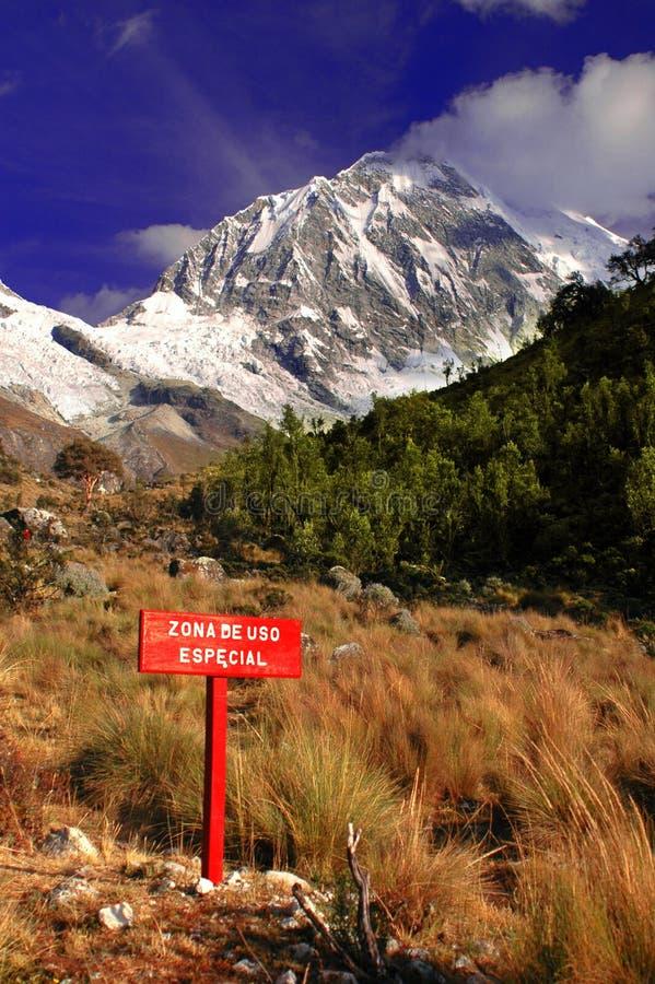 blanca Cordillera góry zdjęcie royalty free