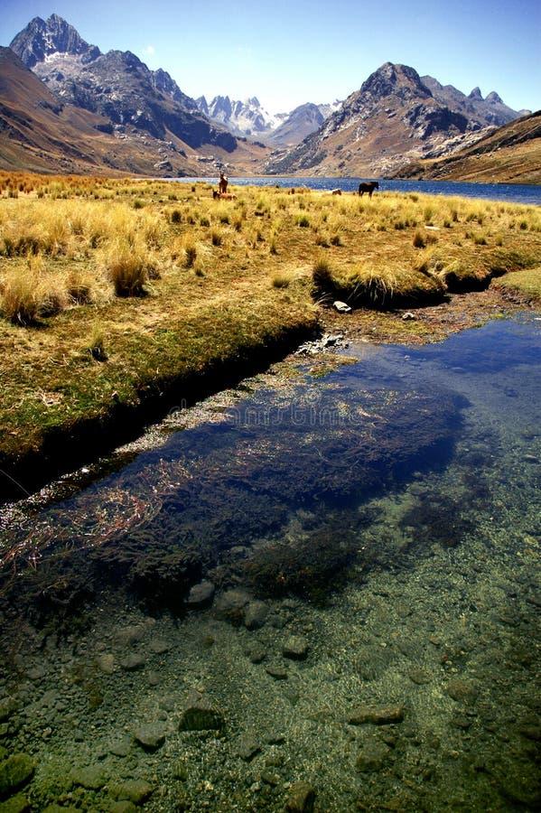 blanca Cordillera góry zdjęcia stock