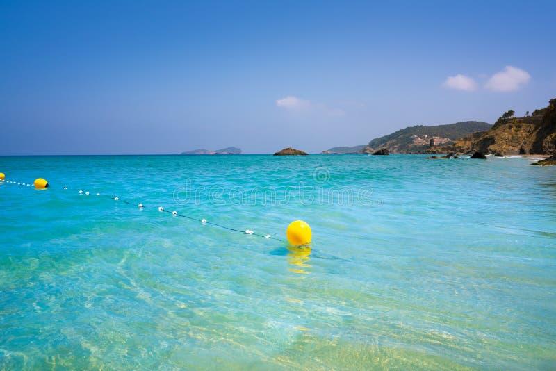 BLANCA de Aigua da praia de Ibiza em Santa Eulalia foto de stock royalty free