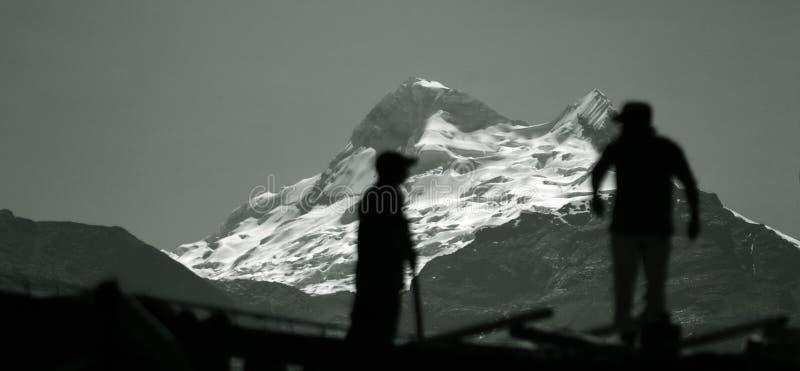 Blanca de Cordiliera - Le Pérou photos stock